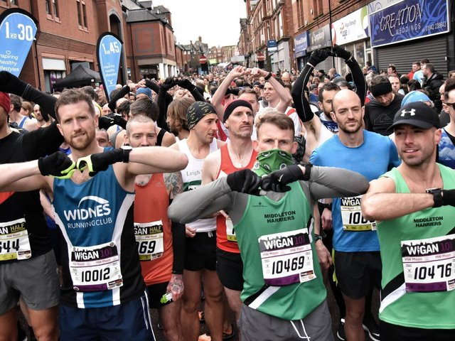 At the start of the Run Wigan Festival in 2019