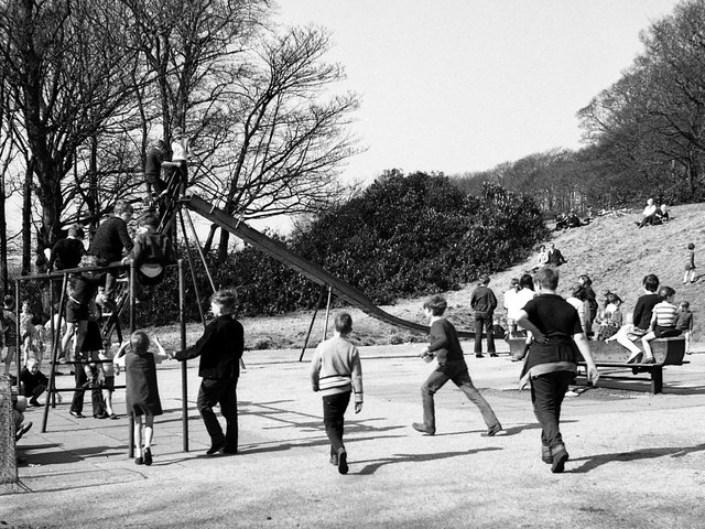Easter visitors at Haigh Hall in 1969