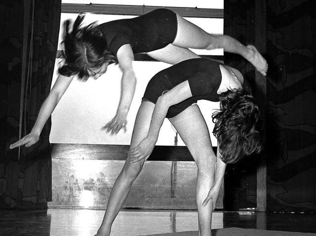 Wigan Girls High School dance and gymnastics lesson in 1969