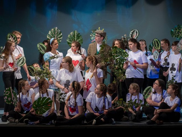 Cast members of the WLT youth group's production of Alice in Wonderland which had to be pulled just before its run began