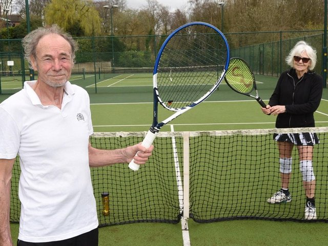 Club president Stan Mapson and chairman Anne Miller at Bellingham Tennis Club