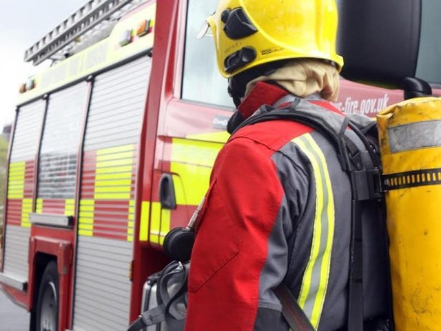 Firefighters spent an hour at the incident