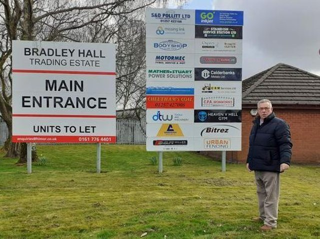 Coun Ray Whittingham at the site
