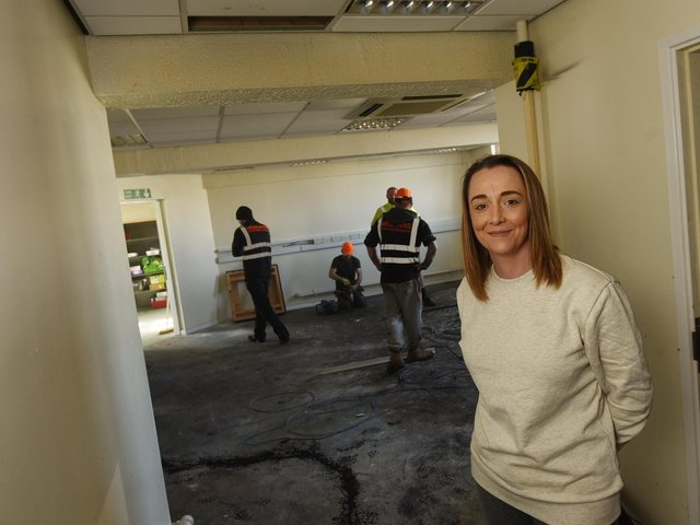 Emma Eastham at the new centre