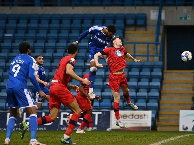 Vadaine Oliver scores the only goal to deny Latics at Gillingham