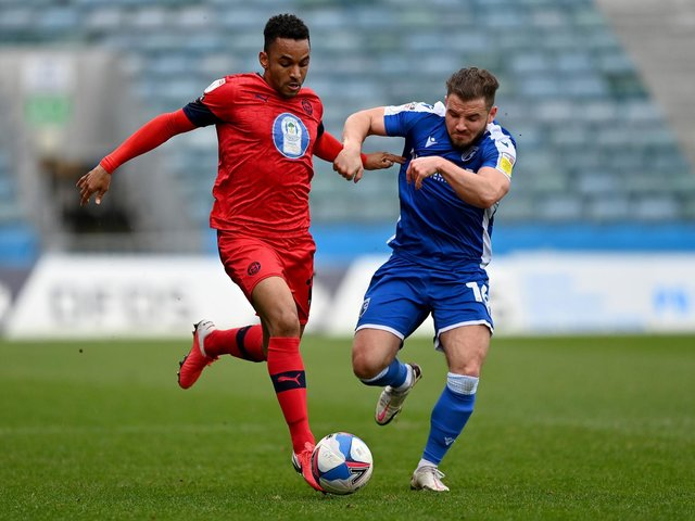 Funso Ojo in action at Gillingham