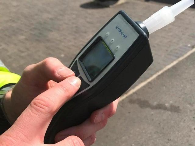 A police breathalyser