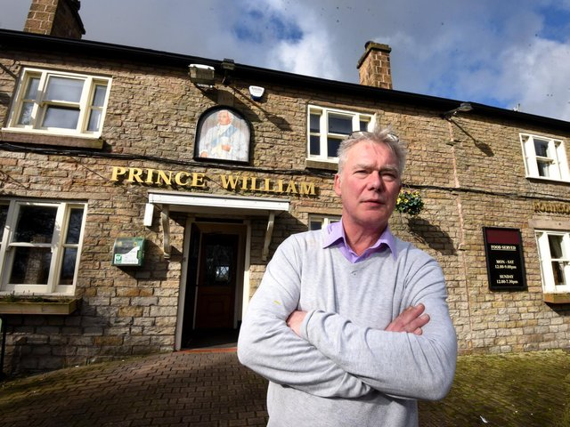 Landlord Dave Roy at the pub