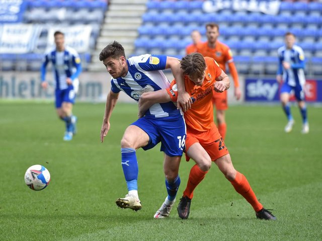 Jamie Proctor in action against Portsmouth