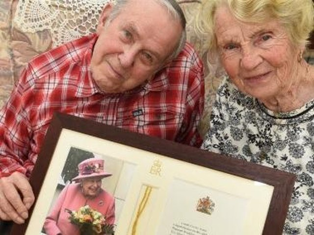 Elsie and Bill Anderton have celebrated 70 years of matrimony