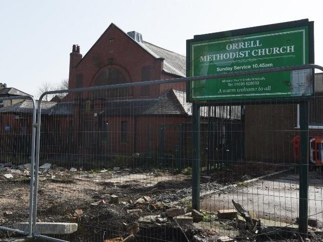 Orrell Methodist Church whch could be knocked down and replaced by flats