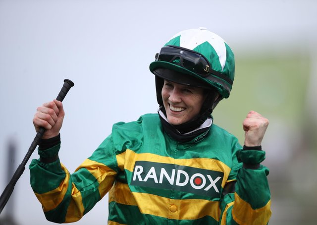 Rachael Blackmore after steering Minella Times to glory at Aintree