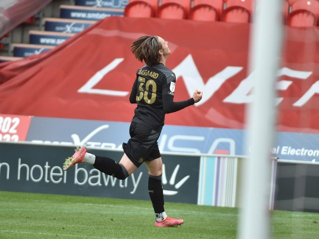 Thelo Aasgaard celebrates scoring at Doncaster