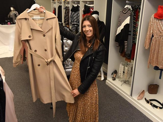 Natalie Murphy in her independent clothes store - she believe people are bored of shopping for clothes online