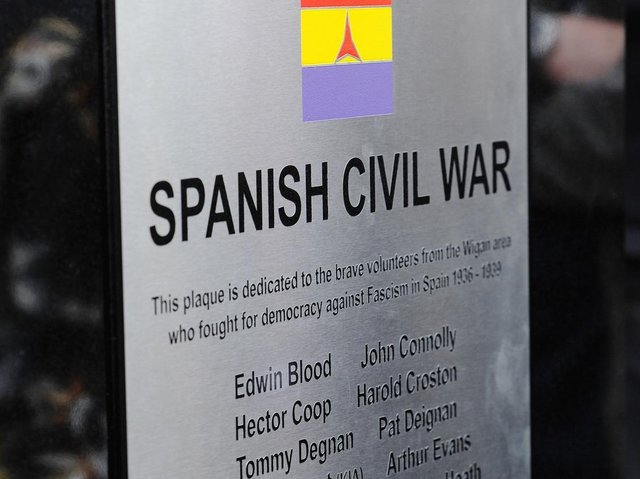The ceremony will be held at the Spanish Civil War memorial in Wigan