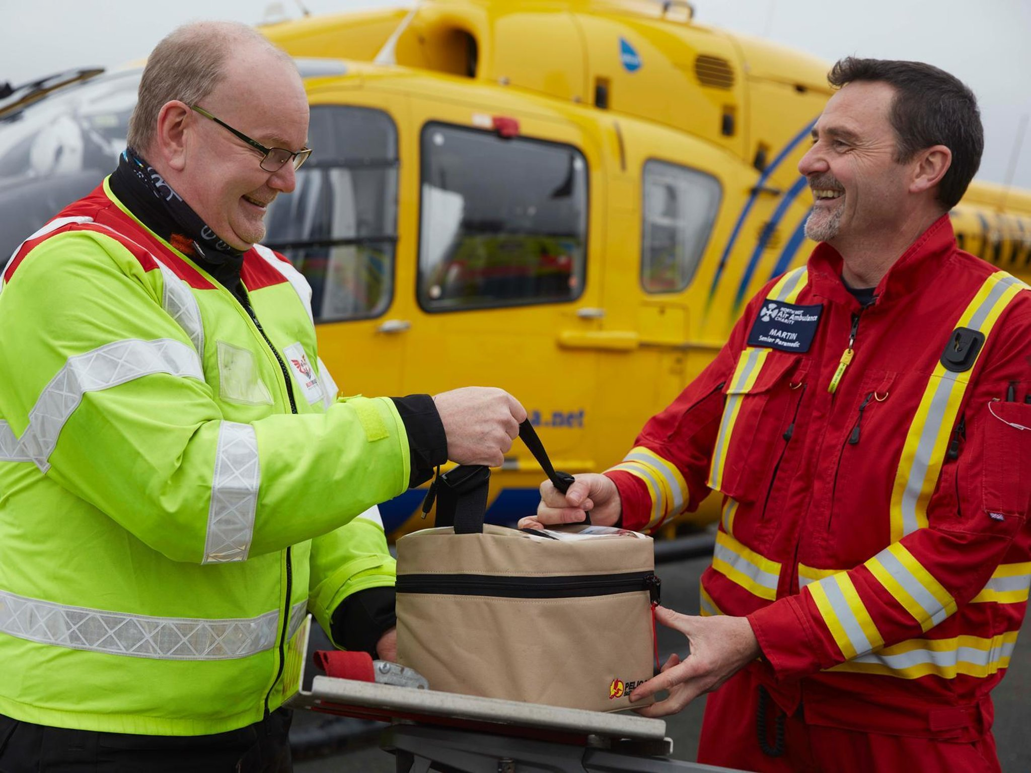 Air ambulance charity delivers 100th blood transfusion