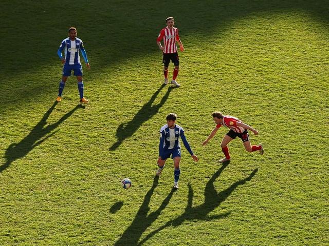 Callum Lang in action against Sunderland