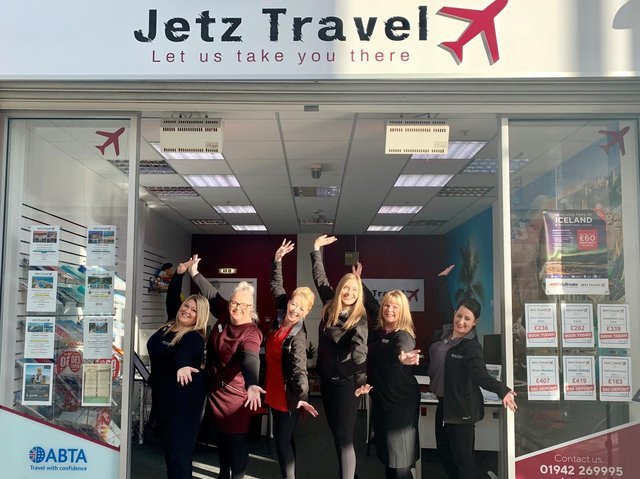 The team at Jetz Travel awaiting to welcome customers back into their stores