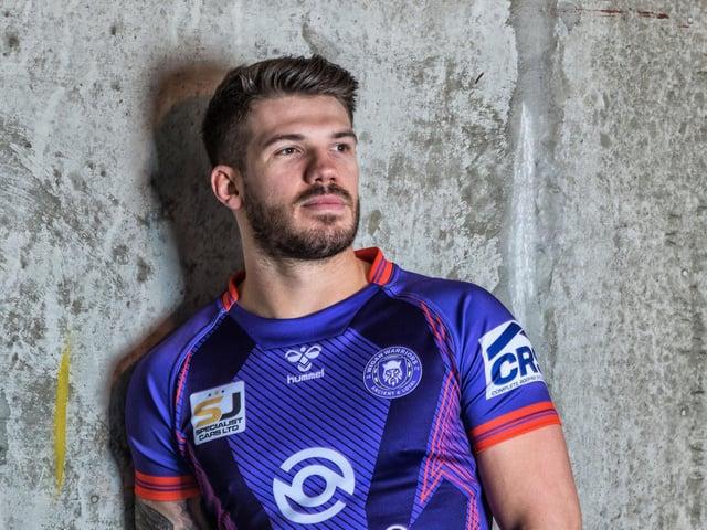Oliver Gildart in the new alternative purple kit