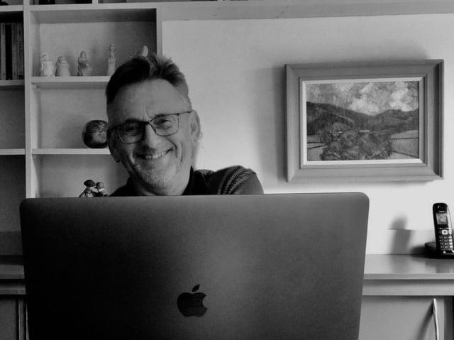Crime author Malcolm Hollingdrake. Photo by Gary Barton