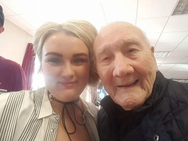 Kirsty Gaskell with her grandad Joe