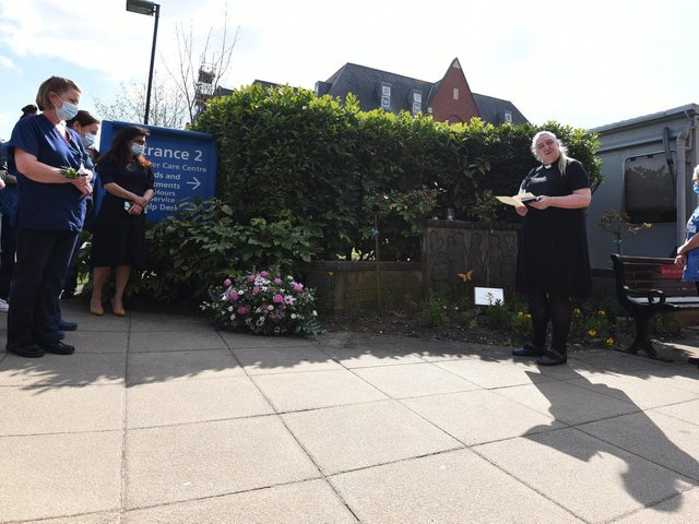 A plaque to midwife Linda Clarke was unveiled at Wigan Infirmary
