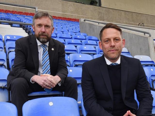 Mal Brannigan and Leam Richardson at the DW Stadium