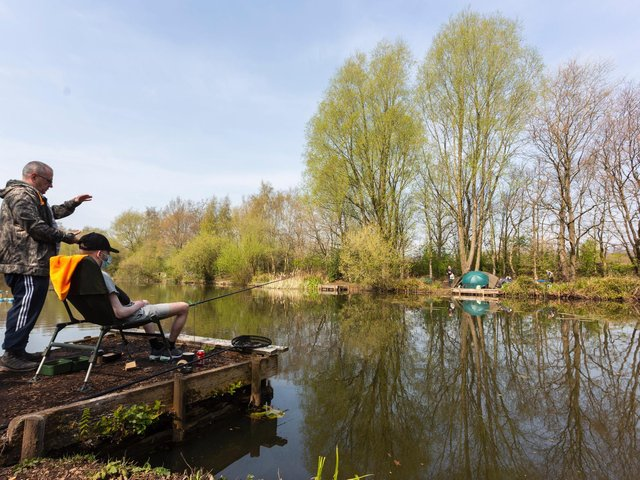 The first anglers prescribed fishing therapy have already taken to the waterside
