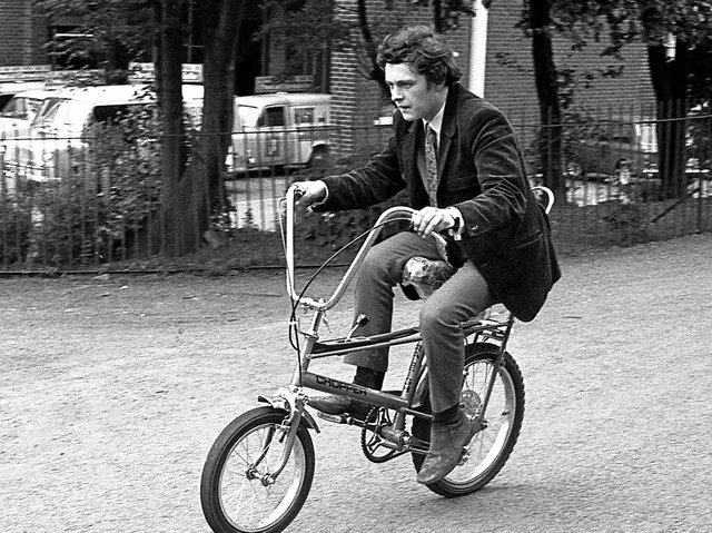 Wigan Post reporters Tom Hall and Phil Rickman trial two new style cycles to hit the streets of Wigan  in July 1970