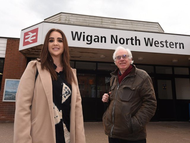 Dr Steph Dermott and Dr Paul Salveson from Wigan Community Rail