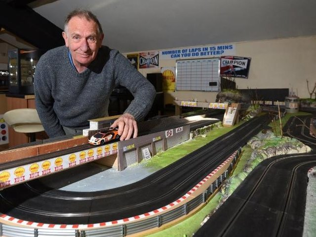 Peter Thompson at his new racing track venture