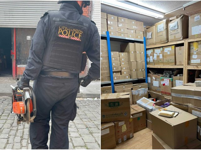 The raids were conducted by Greater Manchester Police in partnership with City of London Police