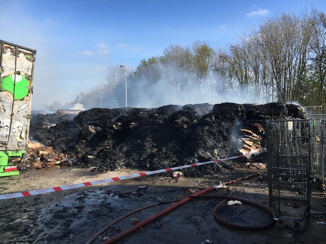 The aftermath of the blaze. Image: GMFRS