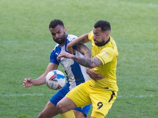 Curtis Tilt in action against Burton