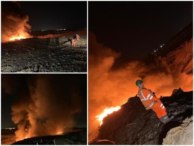Major Incident declared as firefighters continue to battle landfill fire in Bury