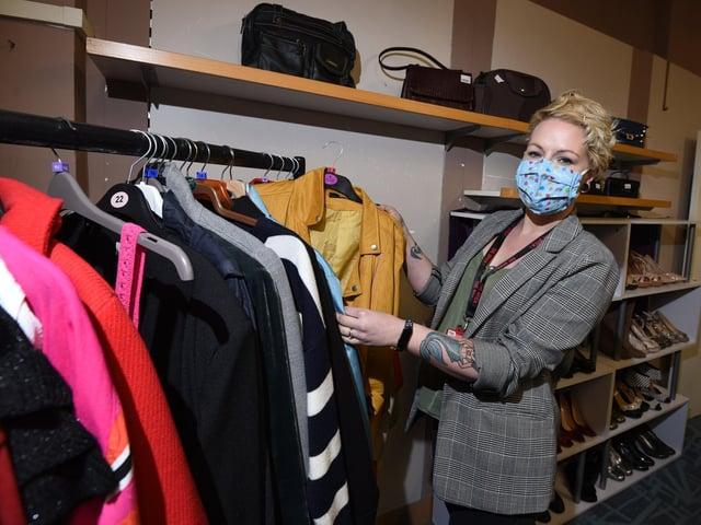 Harriet Foxon at The Brick charity shop