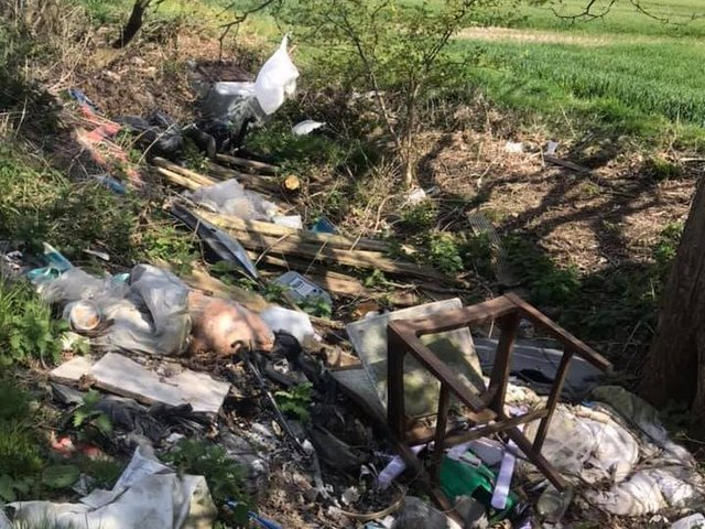 Fly-tipping discovered on Riding Lane, Ashton