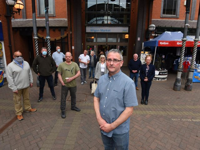 Jonathan Lamb and other market traders unhappy about plans for The Galleries