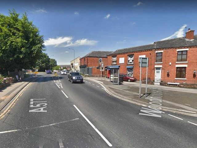 The incident happened on Tyldesley Road in Atherton. Pic: Google Street View