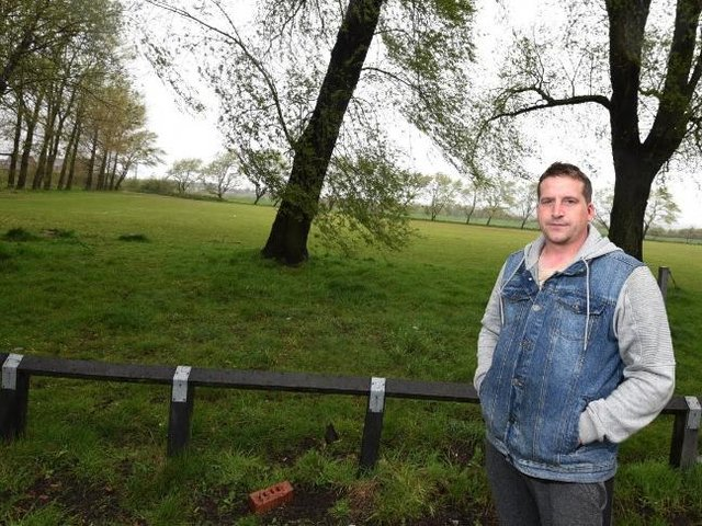 Coun Jones on Bryn Rec after concerns were raised about surveyors spotted on the popular playing field