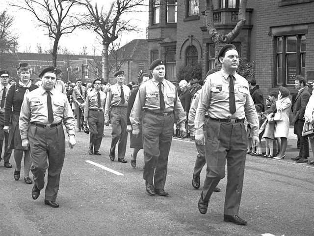 St George's Day parades in Wigan in 1969