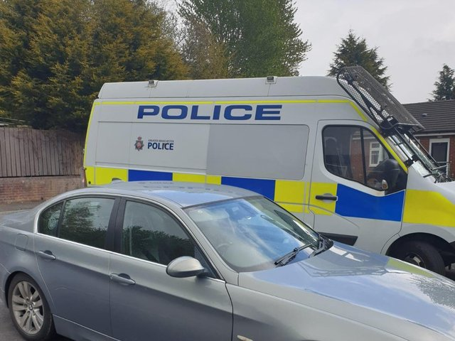The seized car (Image: GMP Wigan West)