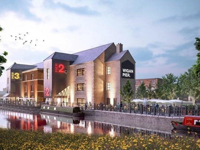 The redeveloped Wigan Pier has had its big launch delayed