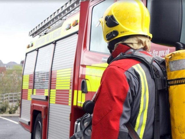 Firefighters attended the scene of the blaze in Westleigh Lane, Leigh