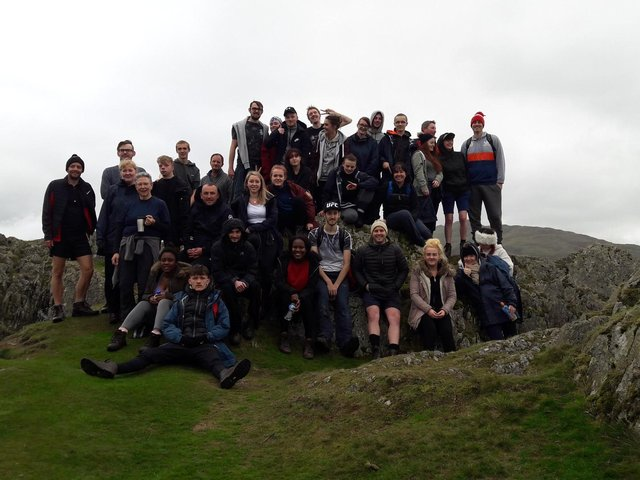 Young people from the foyers on a trip to the Lake District