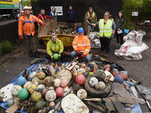 Some of the rubbish pulled from the water