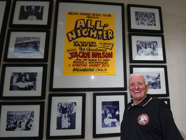 Steve Whittle with the Northern Soul memorabilia at the Grand Arcade