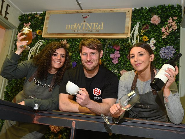 Sarah Gallagher, Terry Bridge and Stephanie Fish, the team at unWINEd coffee shop and wine bar on Miry Lane