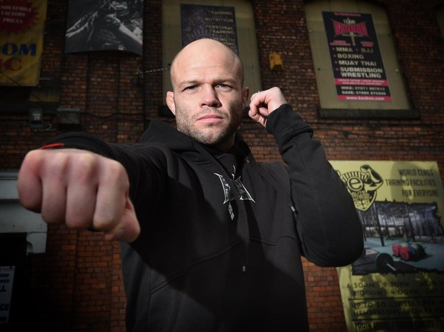 Mike Grundy outside his Wigan gym