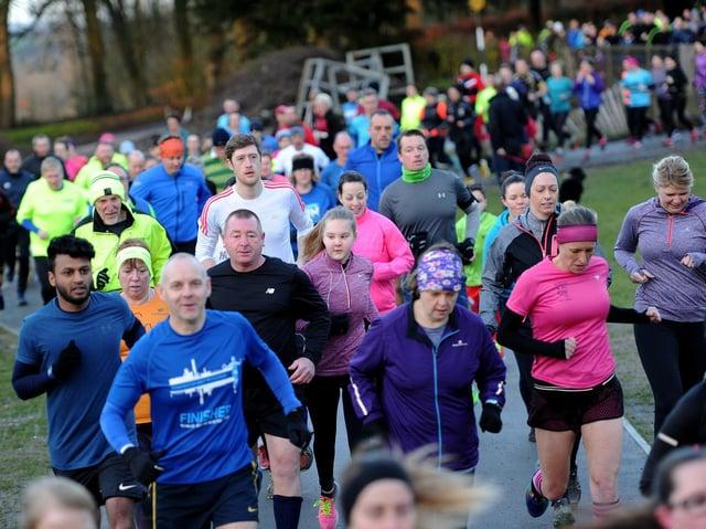 Haigh Woodland park run, Saturday 6th January 2018.